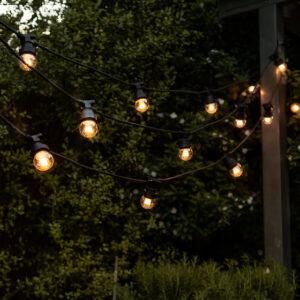 Festoon Party Lighting Hanging In Garden