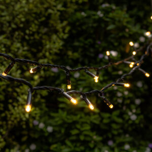 Fairy Lights Wrapped On Tree