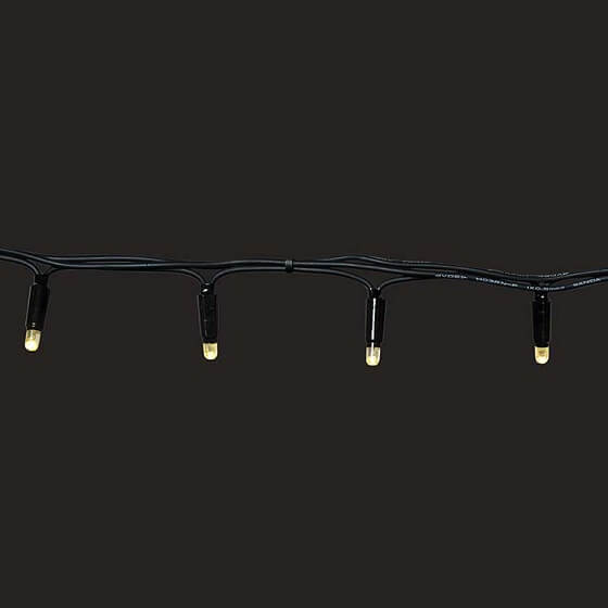 Black Cable LED Warm White Fairy Lights