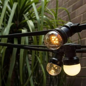 Low Voltage Festoon Lighting 50cm Globe Spacing
