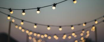 warm white festoon lighting hanging