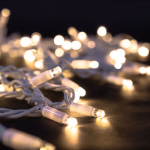 white cable fairylights