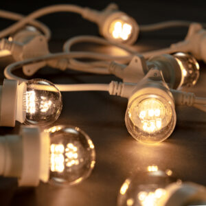 warm white festoon lighting white cable